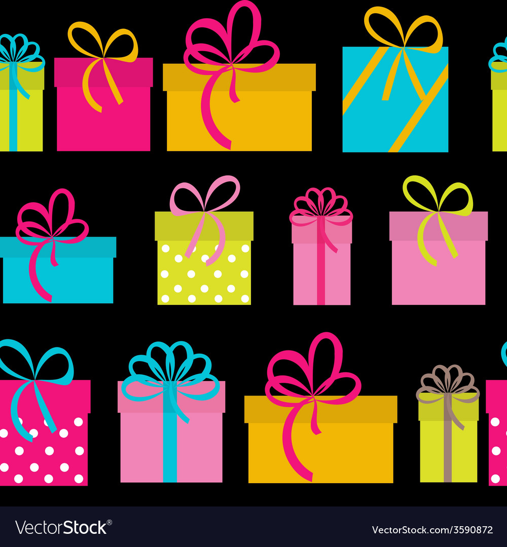 Gift box holiday seamless pattern background vector