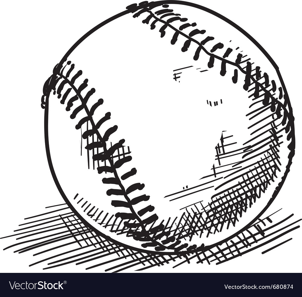 Baseball sketch vector
