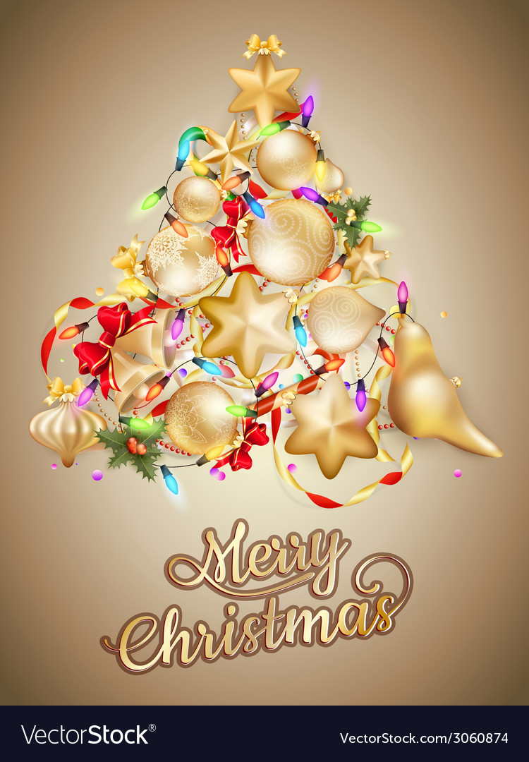 Christmas card with place for text eps 10 vector