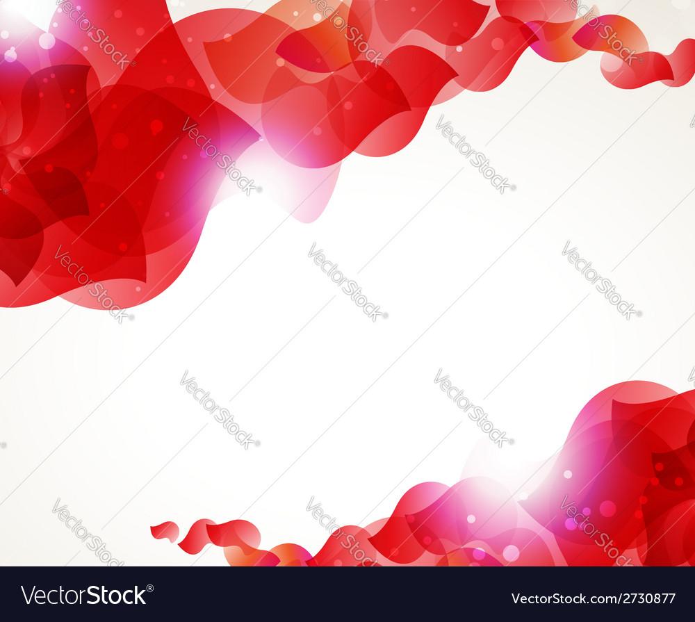 Red petals vector