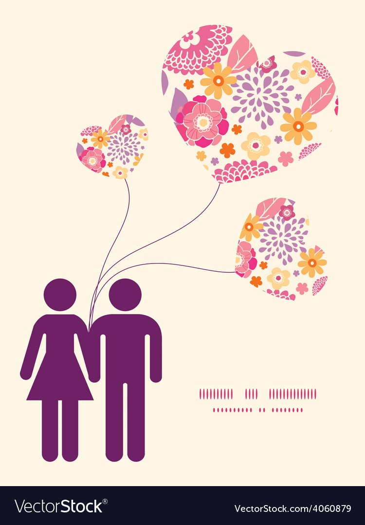 Warm summer plants couple in love vector