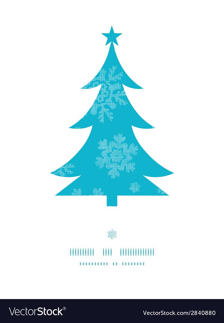 Christmas trees frame blue snowflakes textile vector
