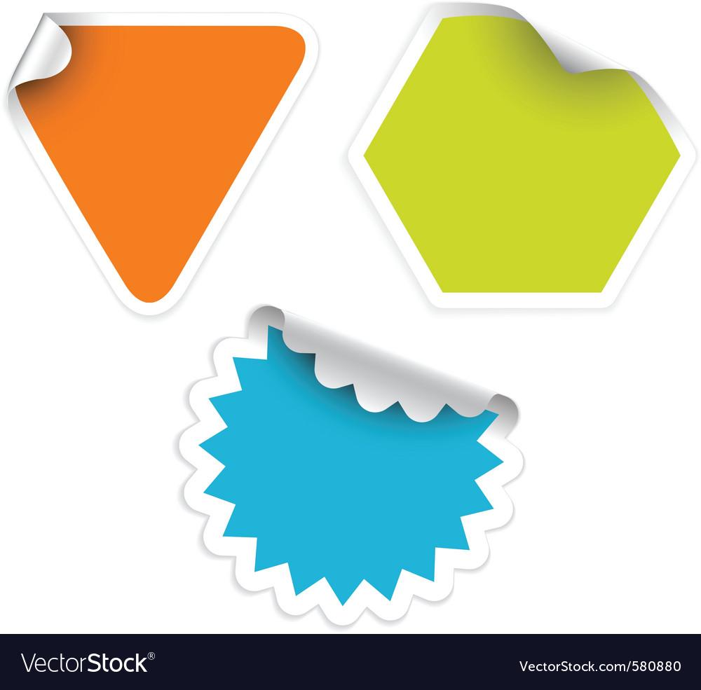 Sticker labels vector