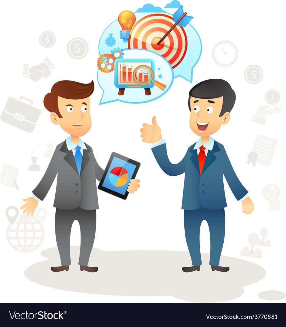 Businessman social chat vector