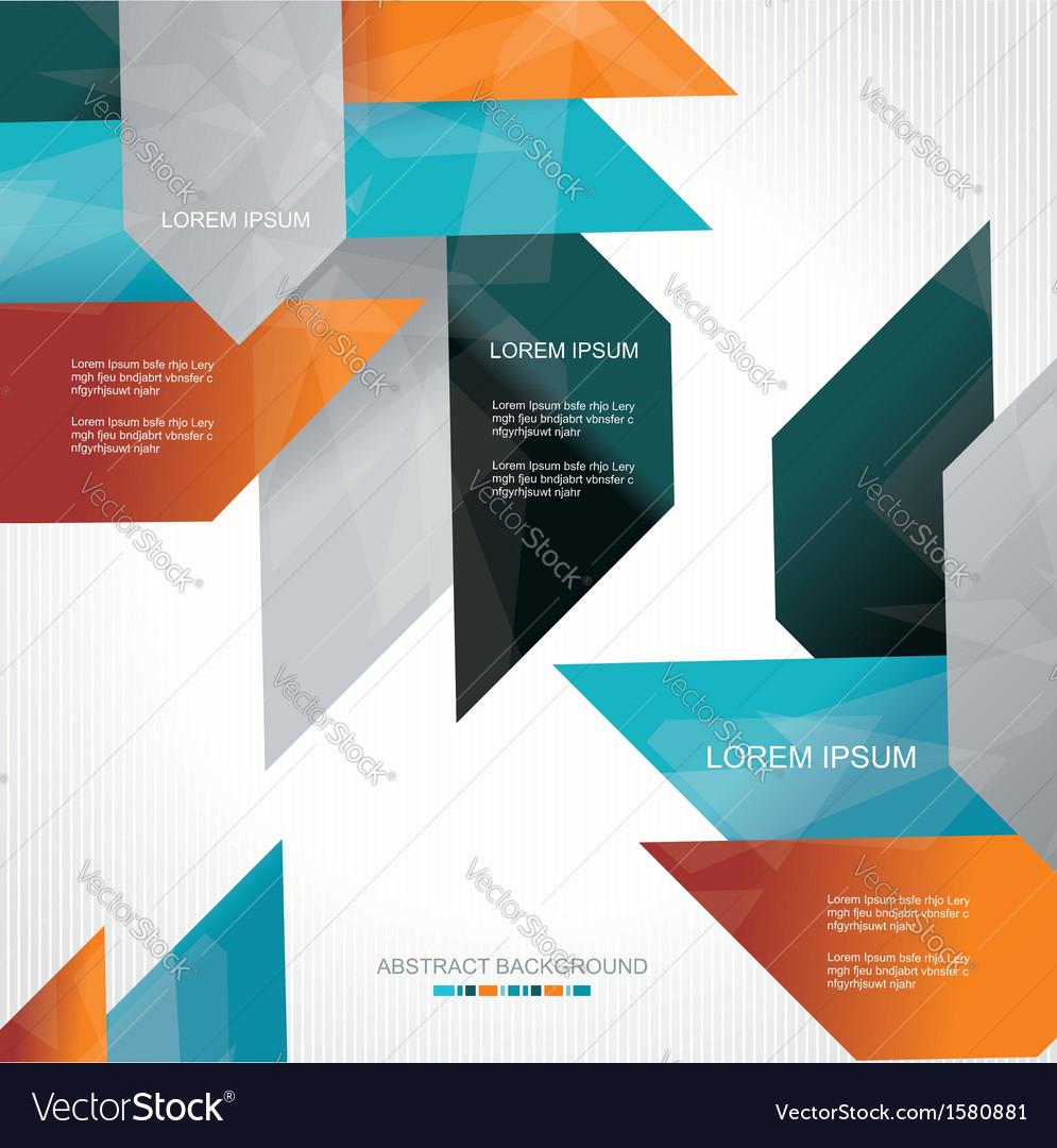 Modern colorful design vector