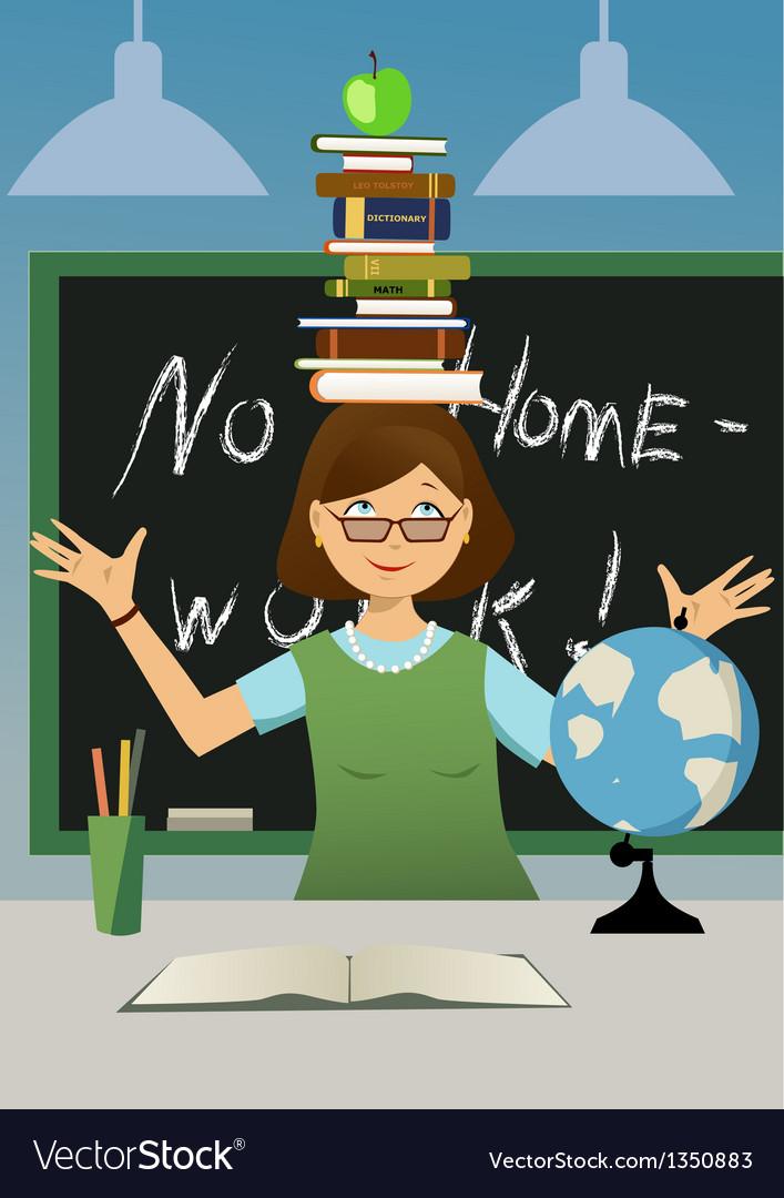 Fun teacher vector