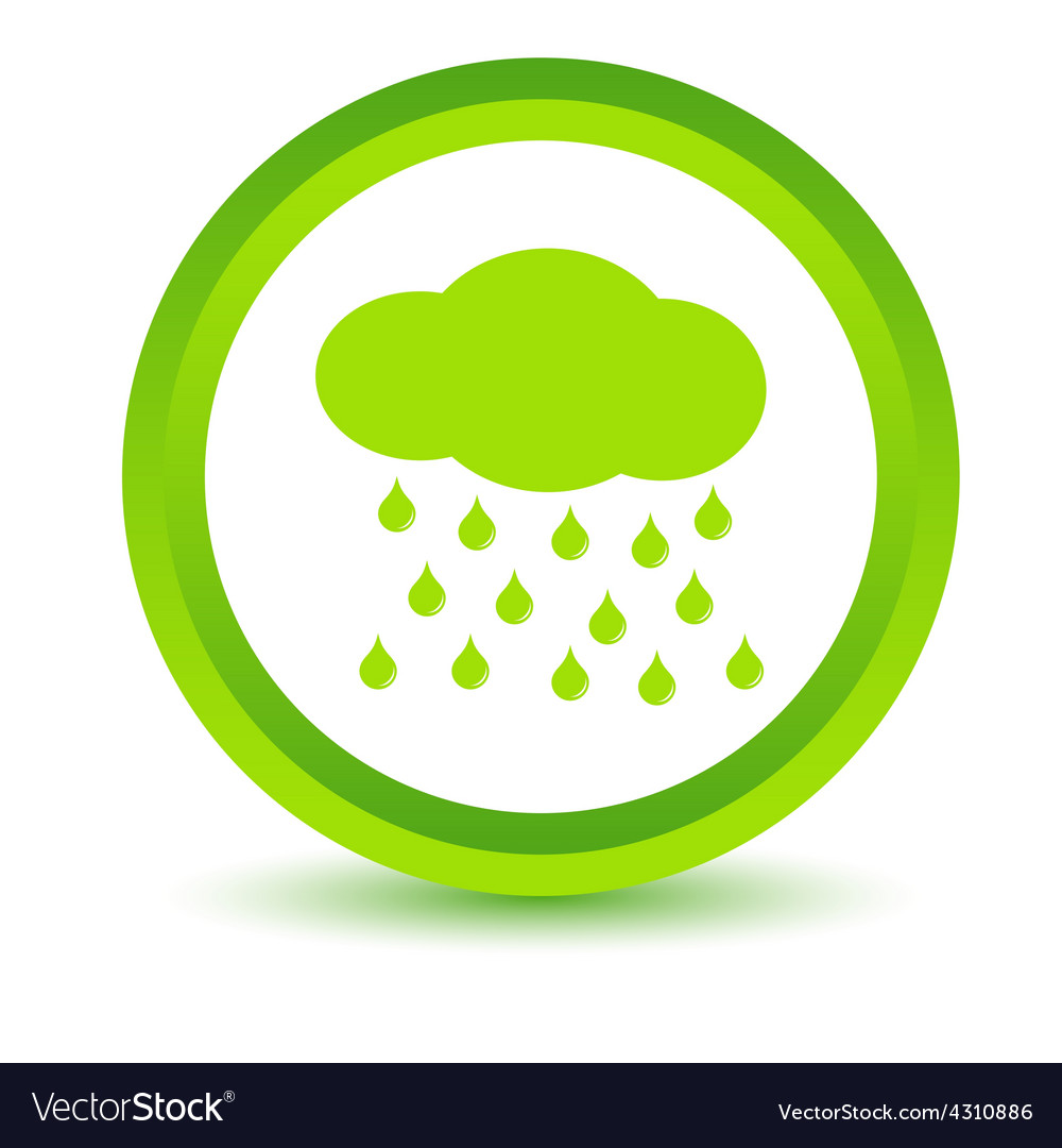 Green rain icon vector