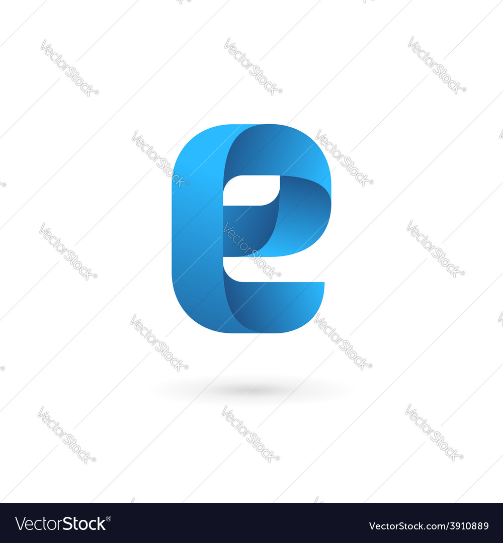 Letter e logo icon design template elements vector