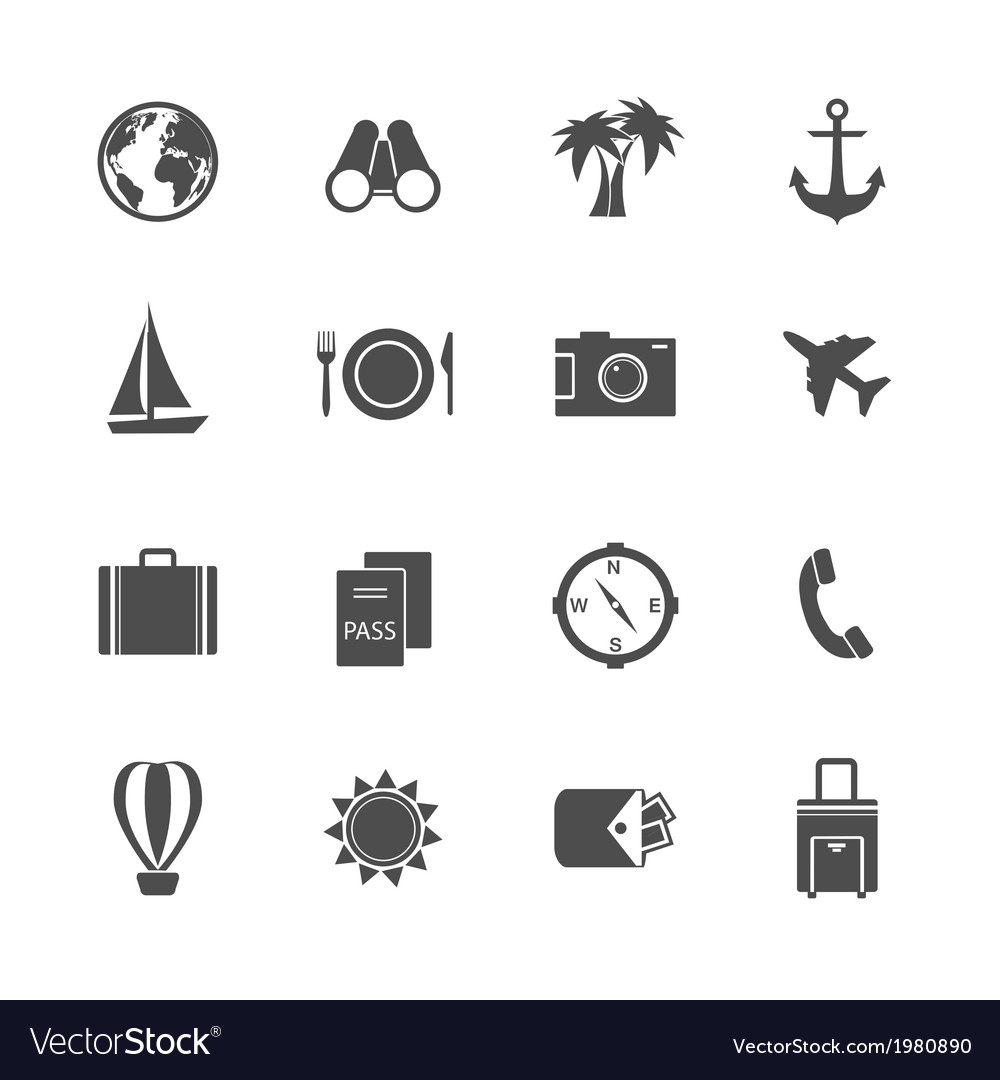 Holidays vacation pictograms collection vector
