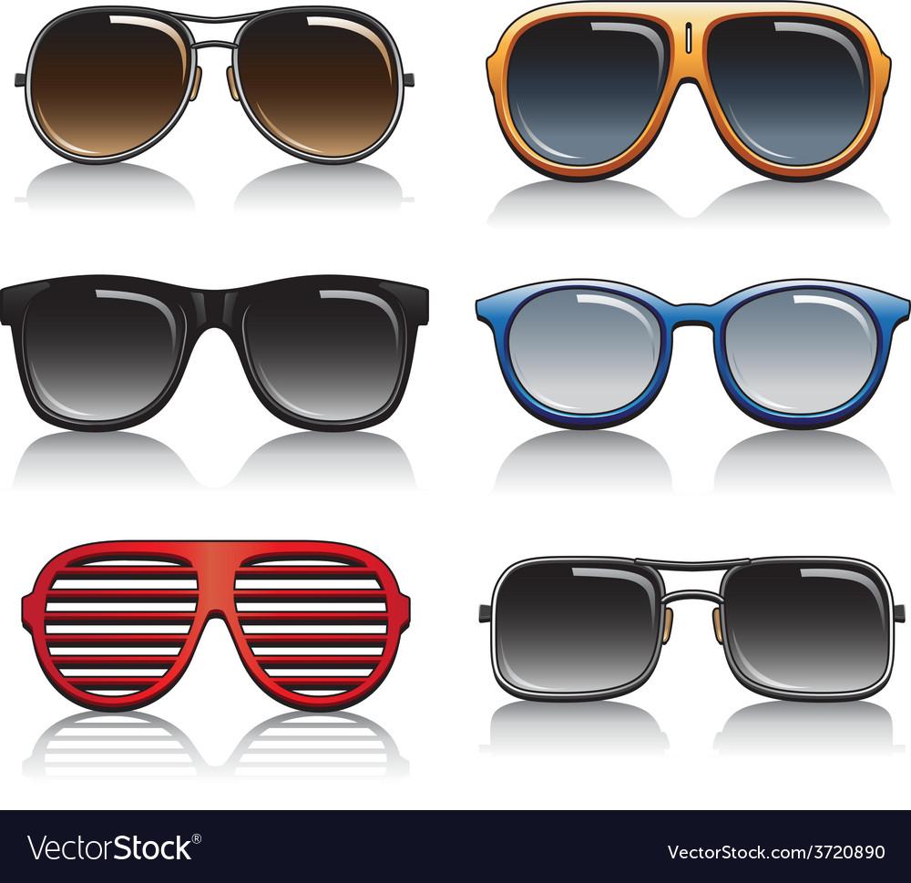 Sunglasses set vector