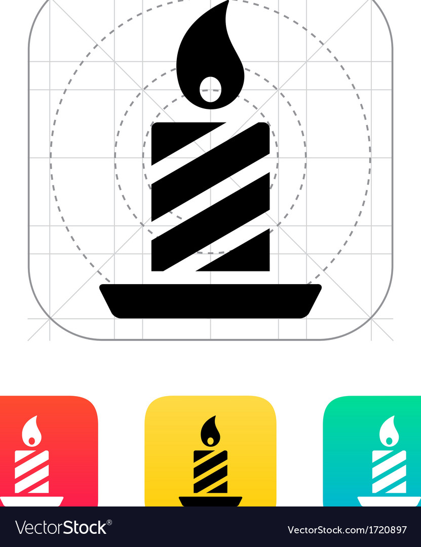 Christmas candle icon vector