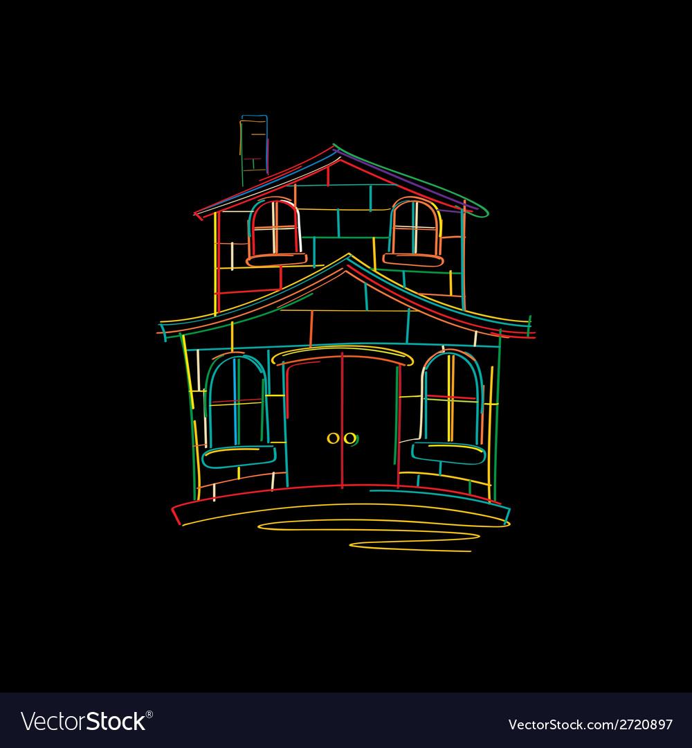 House sketch vector