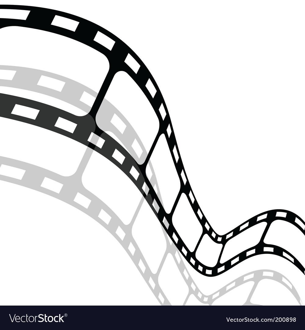 Blank film strip vector