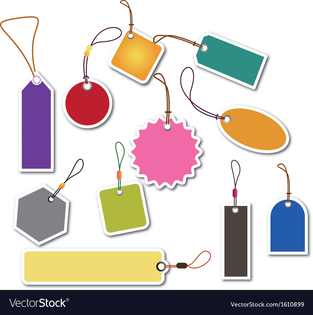 Price tag label - vector