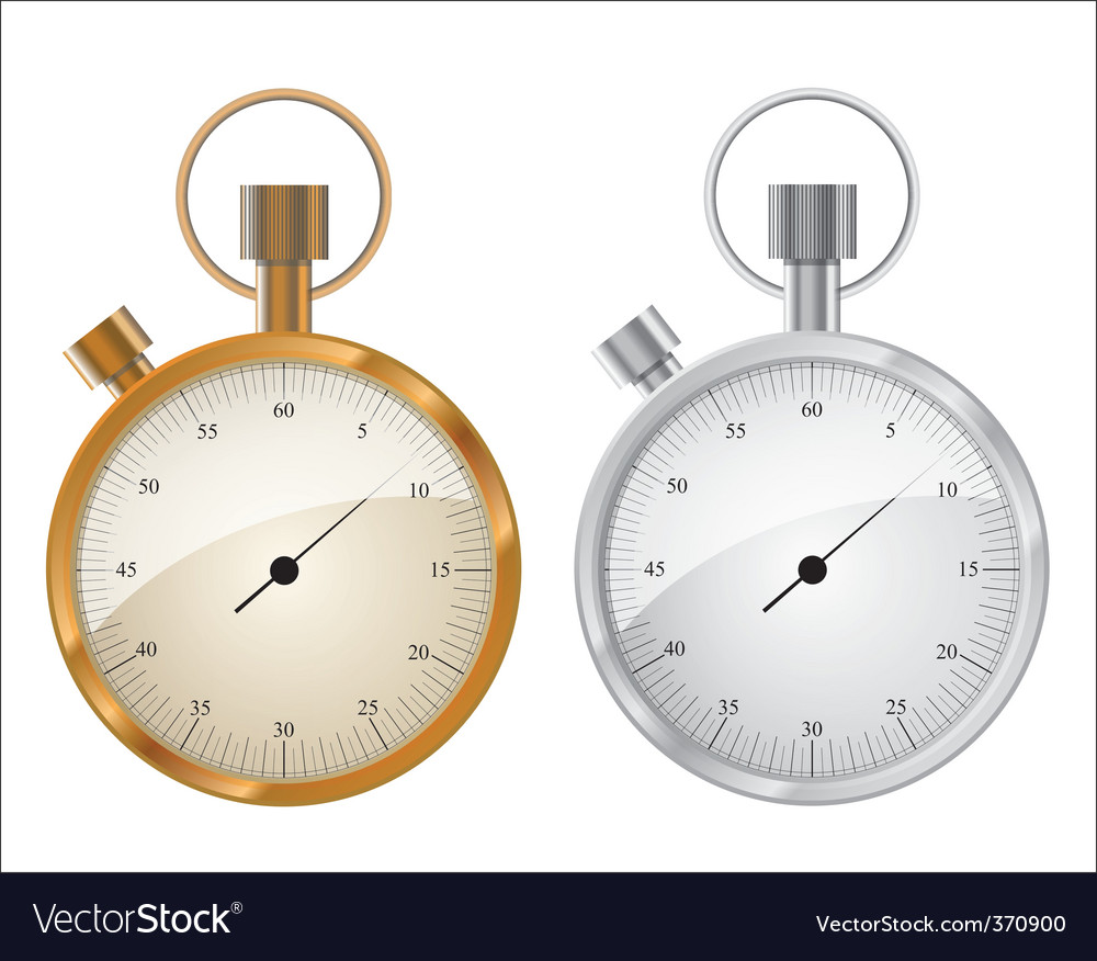 Stopwatch running step time dial vector