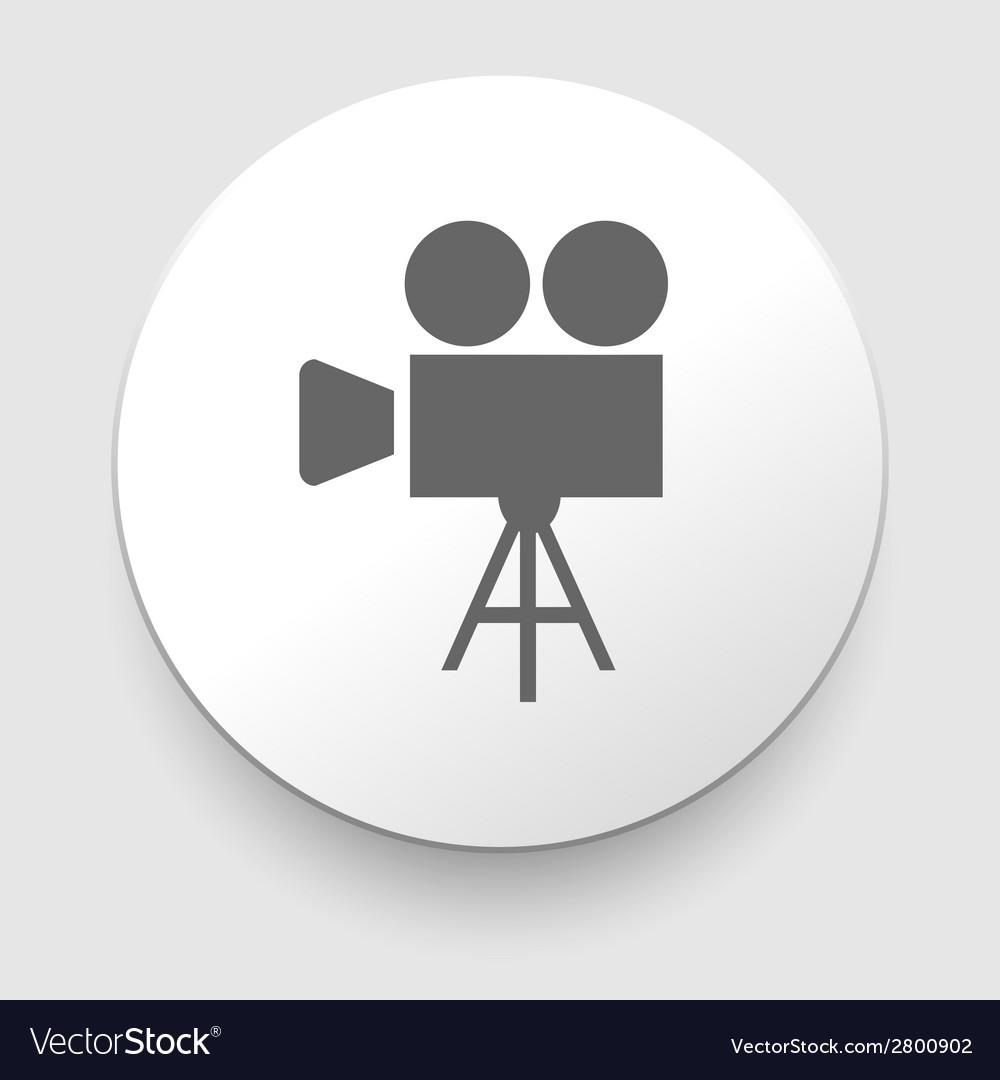 Movie symbol on gray background vector