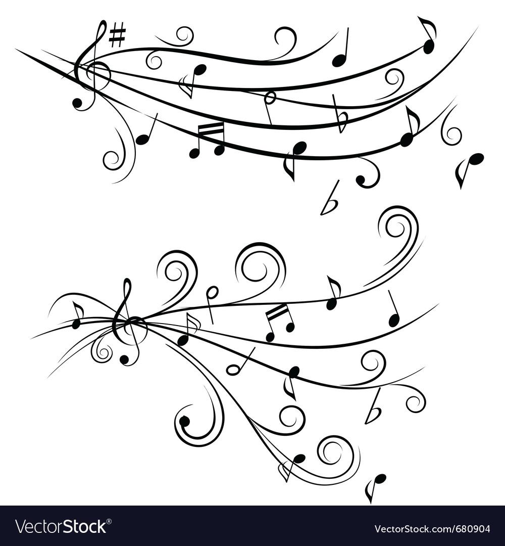 Music tunes vector
