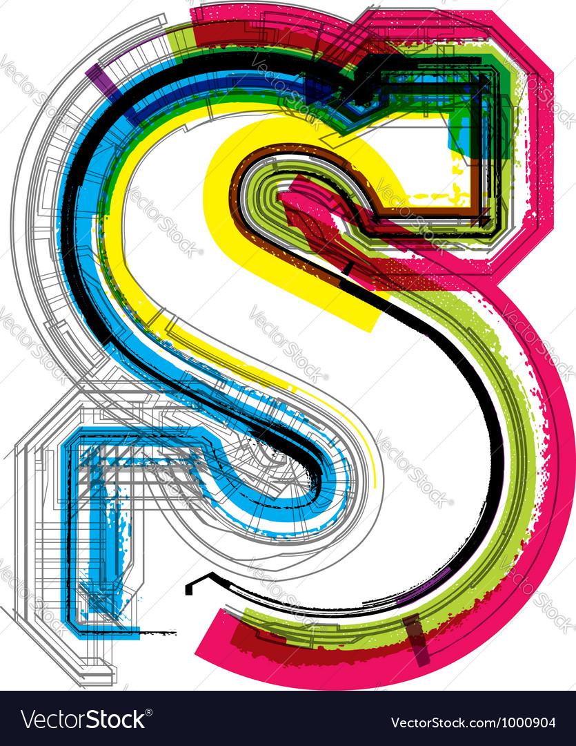 Technical typography vector
