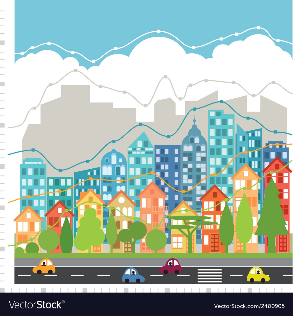 City chart infographic vector