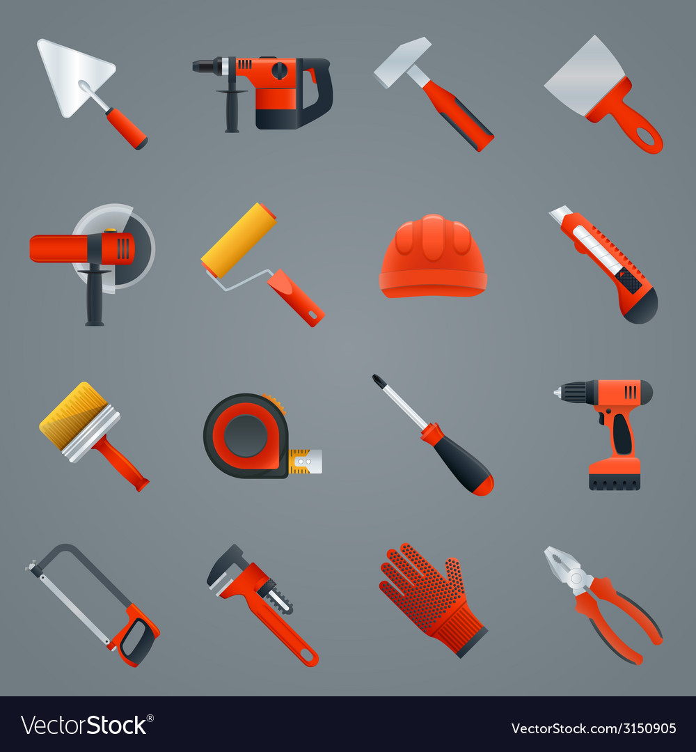 Repair construction tools vector