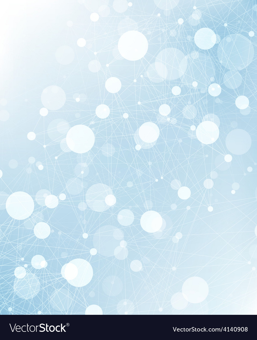 Abstract connections background blue vector