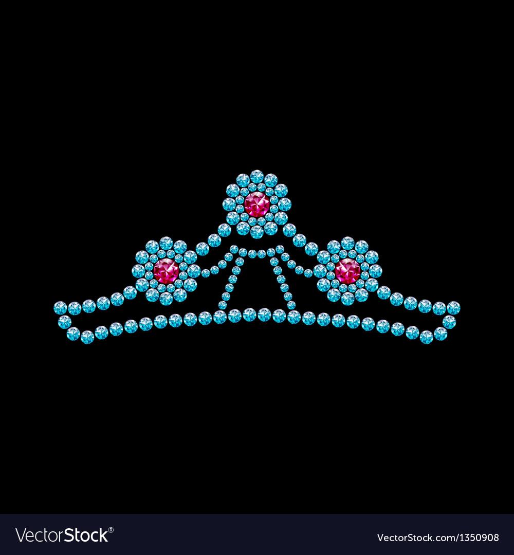 Crown from gemstones vector