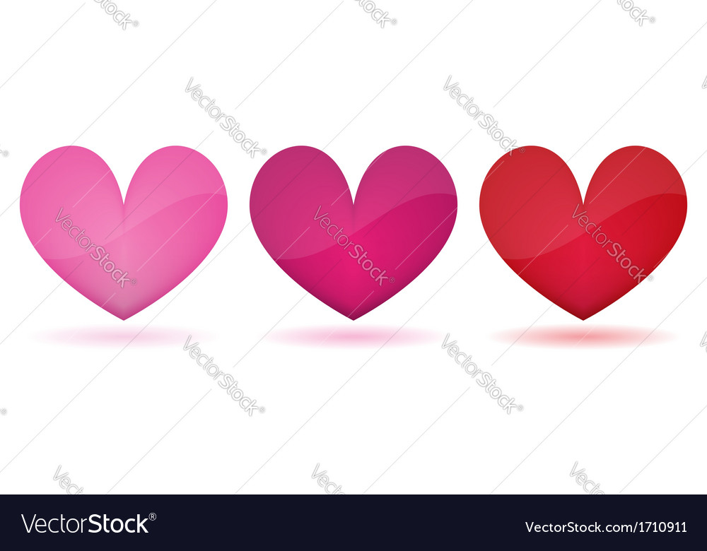 Heart symbol isolated vector
