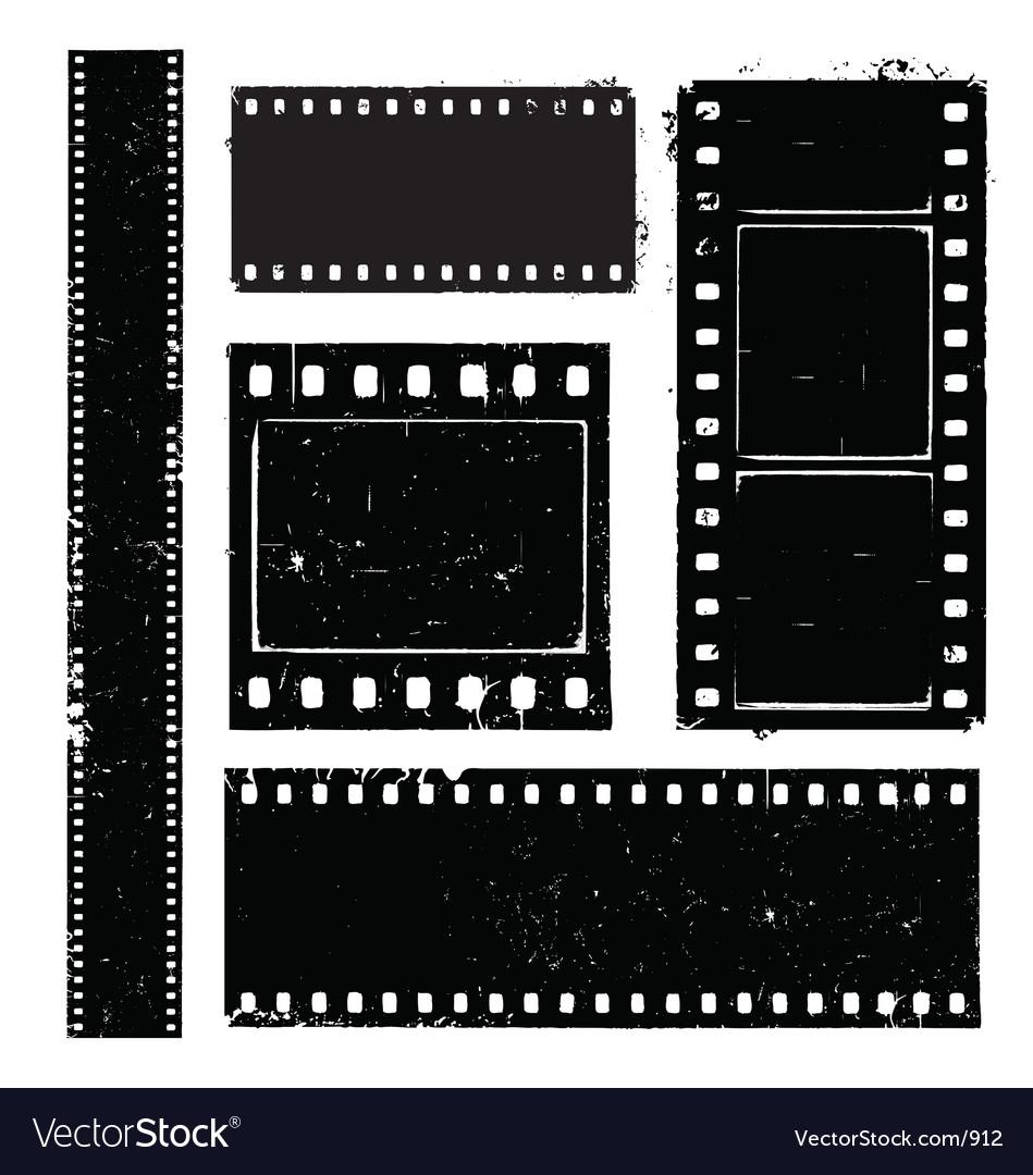 Film strip grunge vector