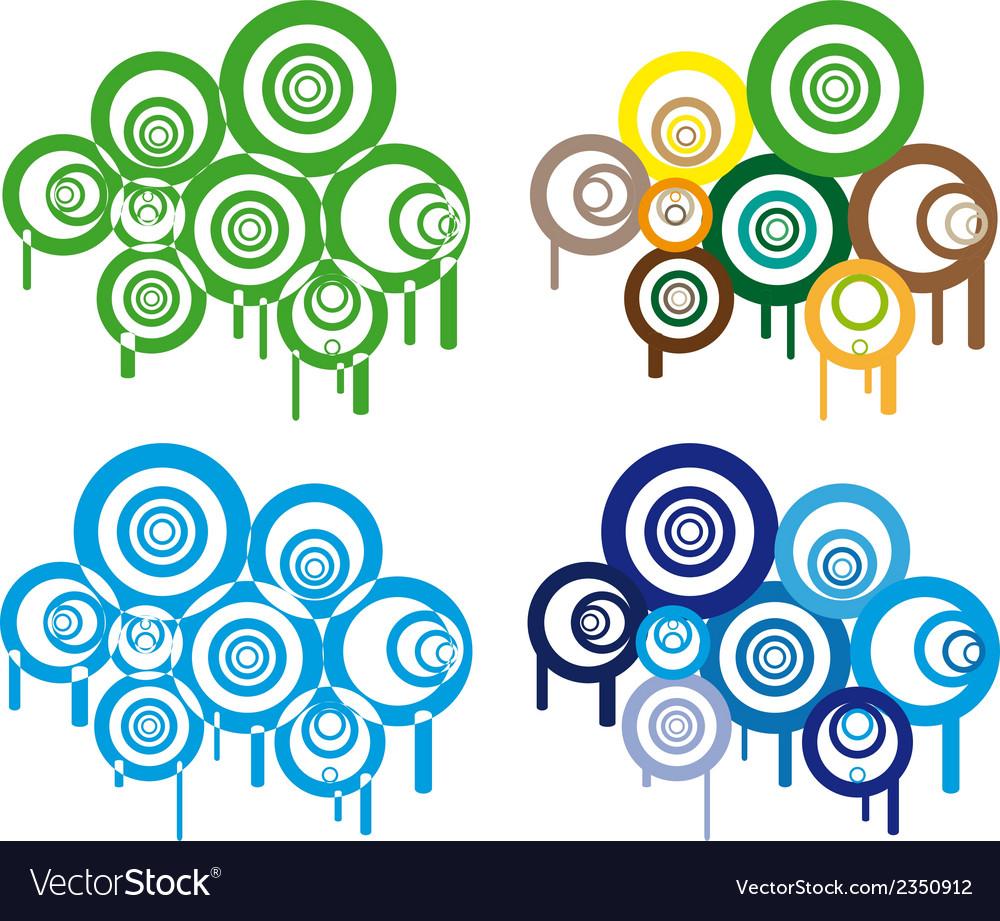 Retro circles vector
