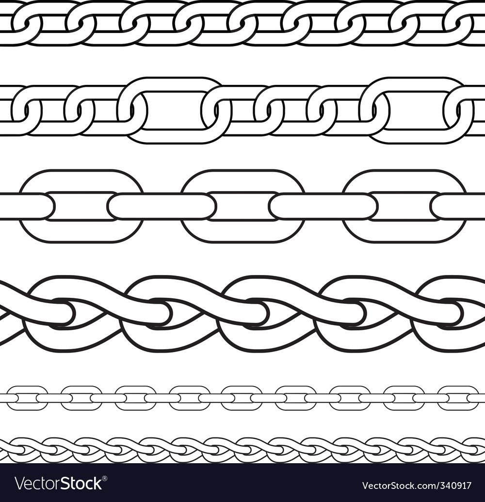 Chain borders vector