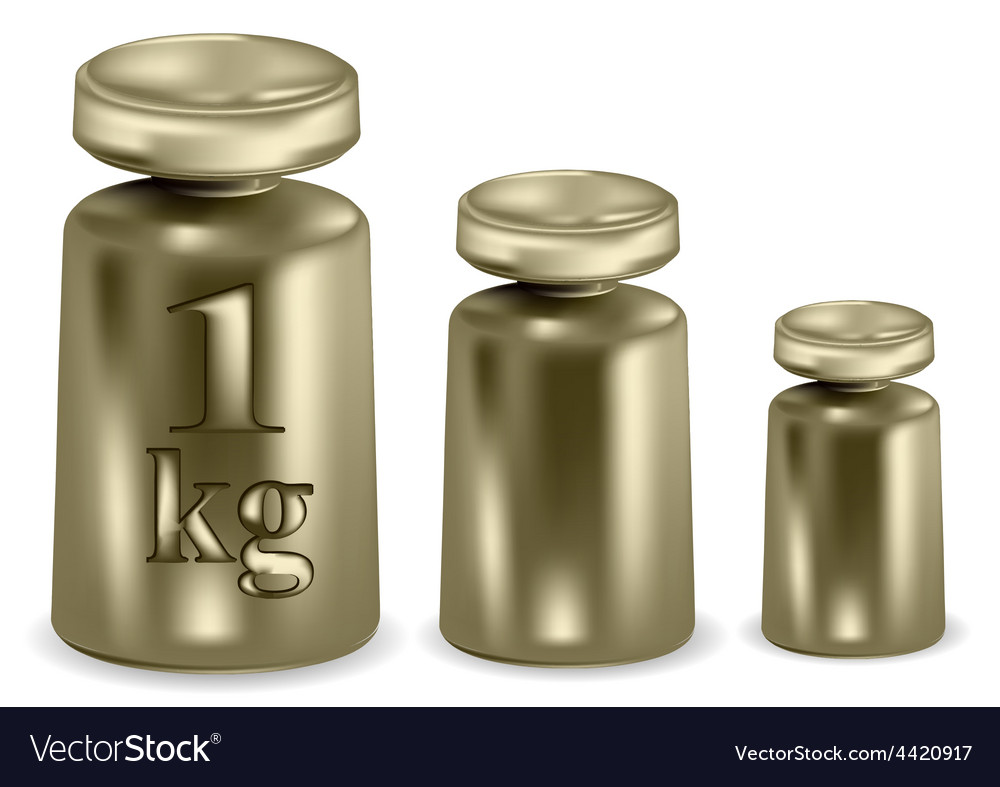 Metal weights vector