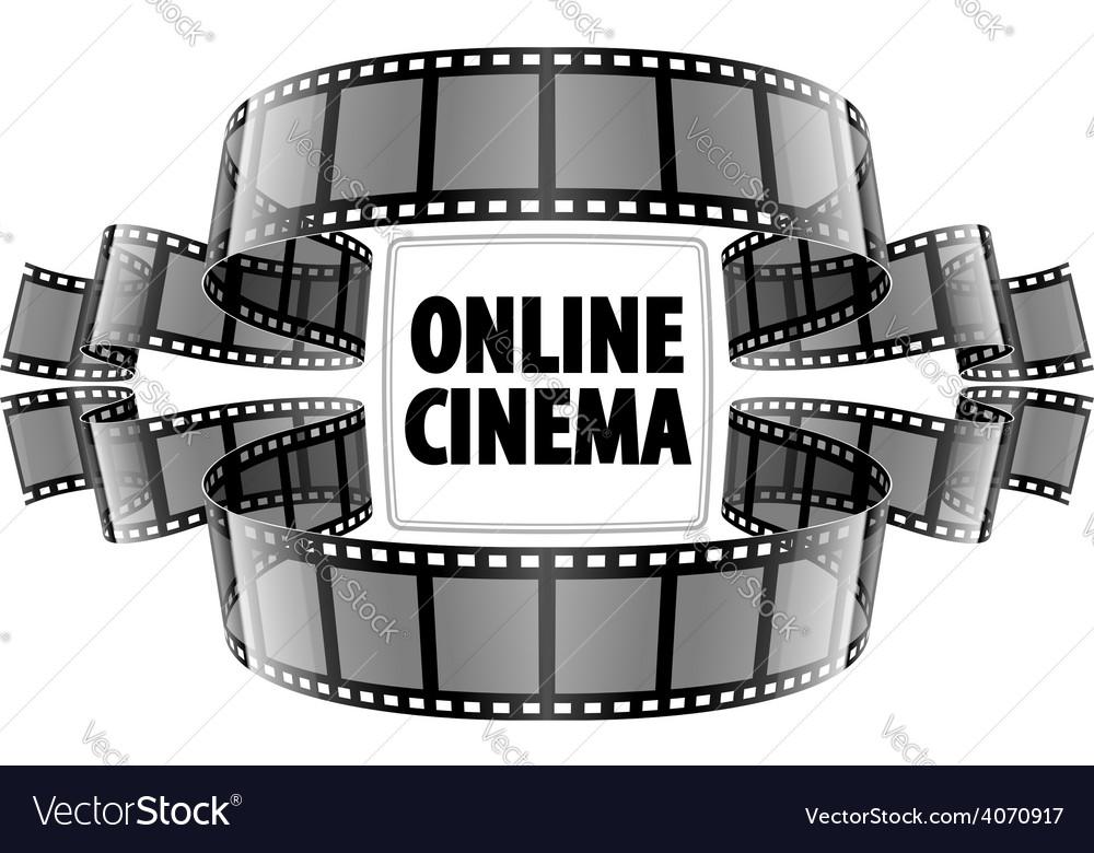 Online cinema video film vector