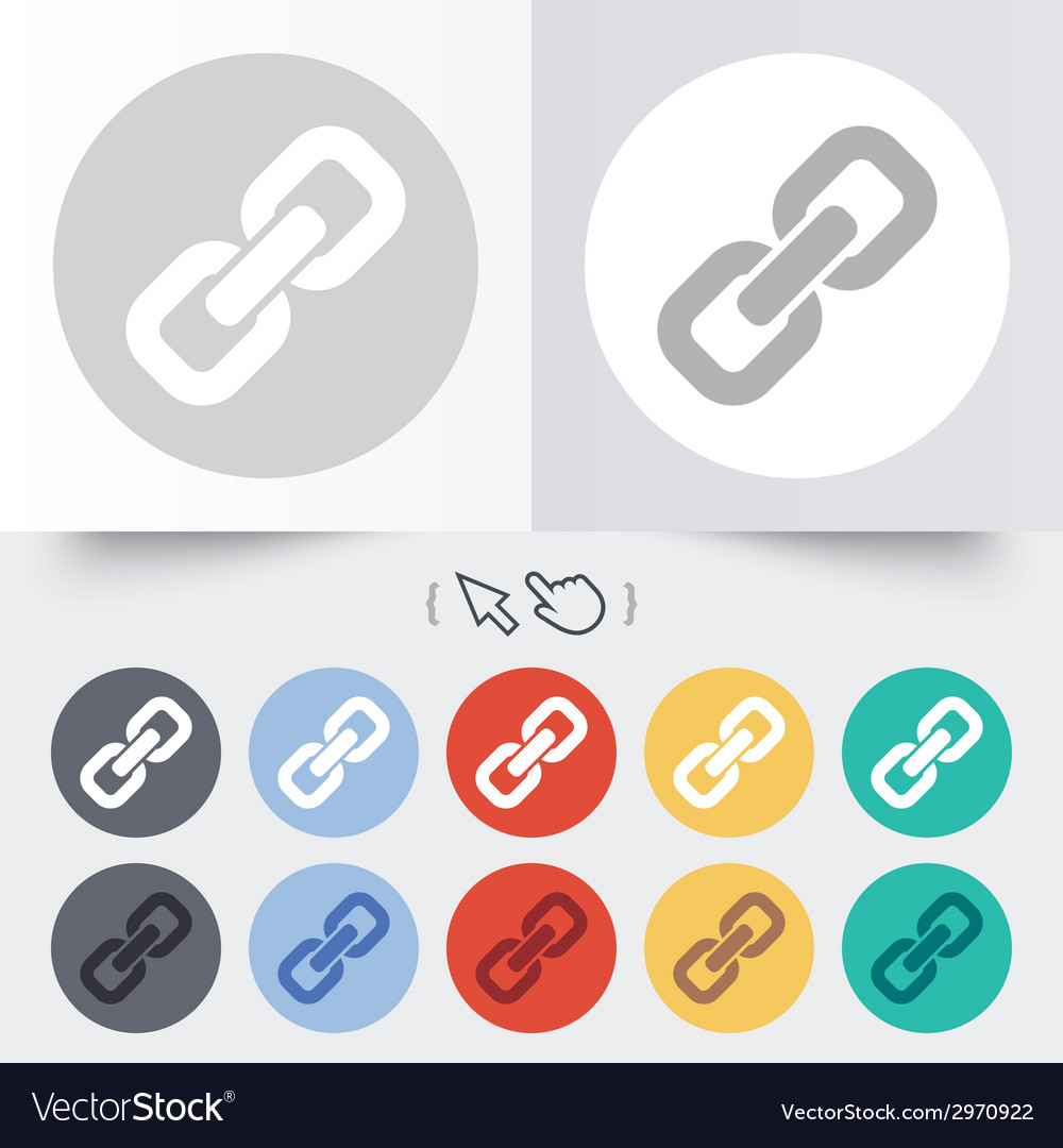 Link sign icon hyperlink symbol vector