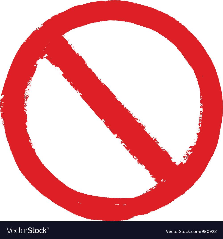 Not allowed sign grunge vector