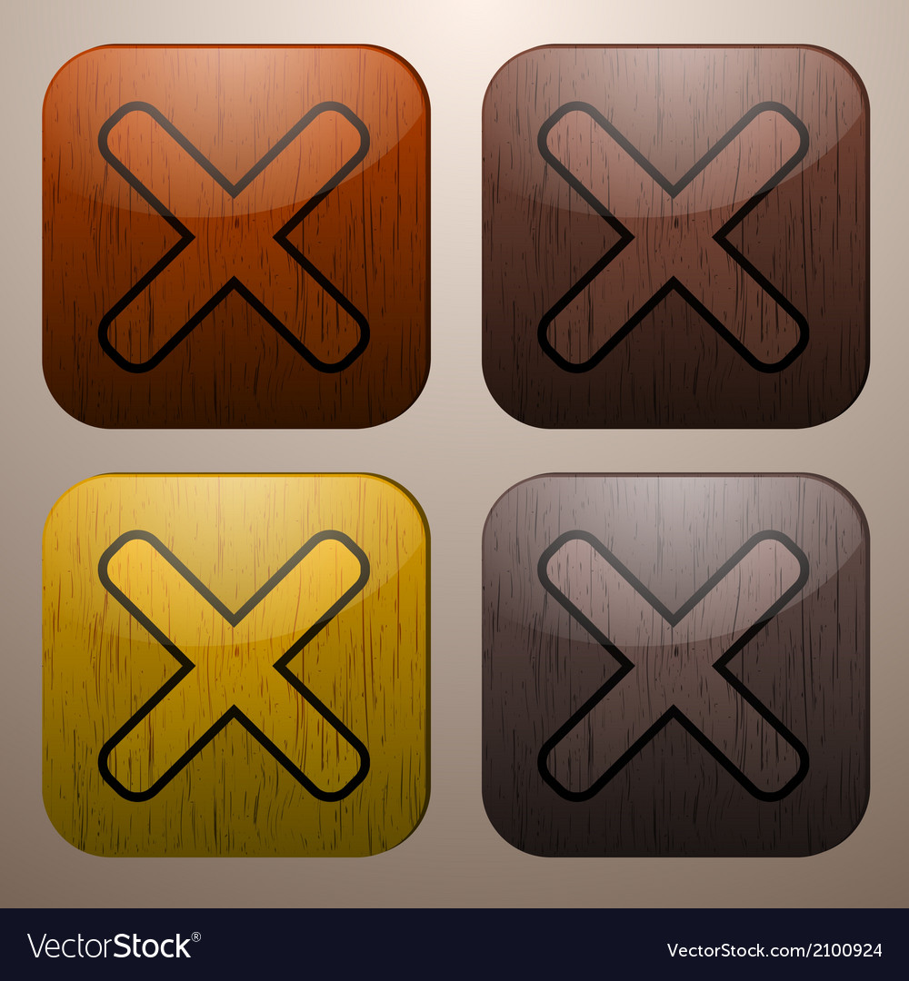 Wooden cross marks vector