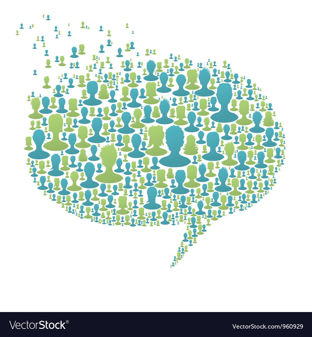 People speech bubble vector