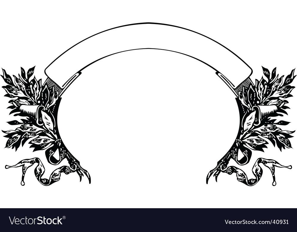 Baroque banner and wreath illustratio vector