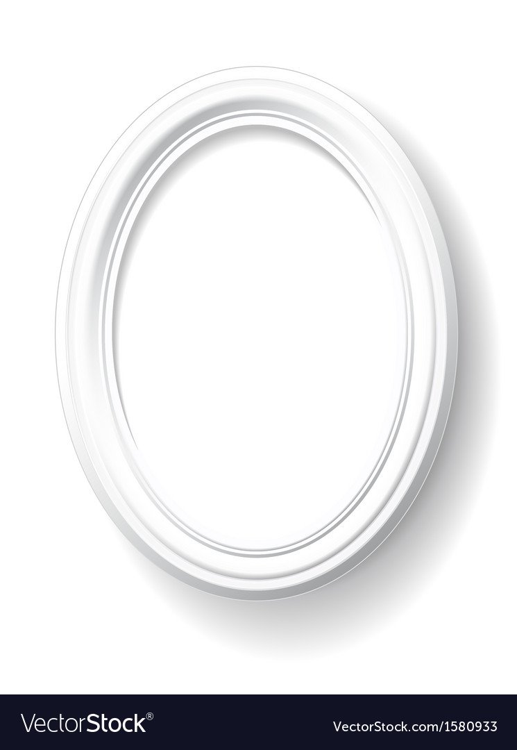 White oval frame vector