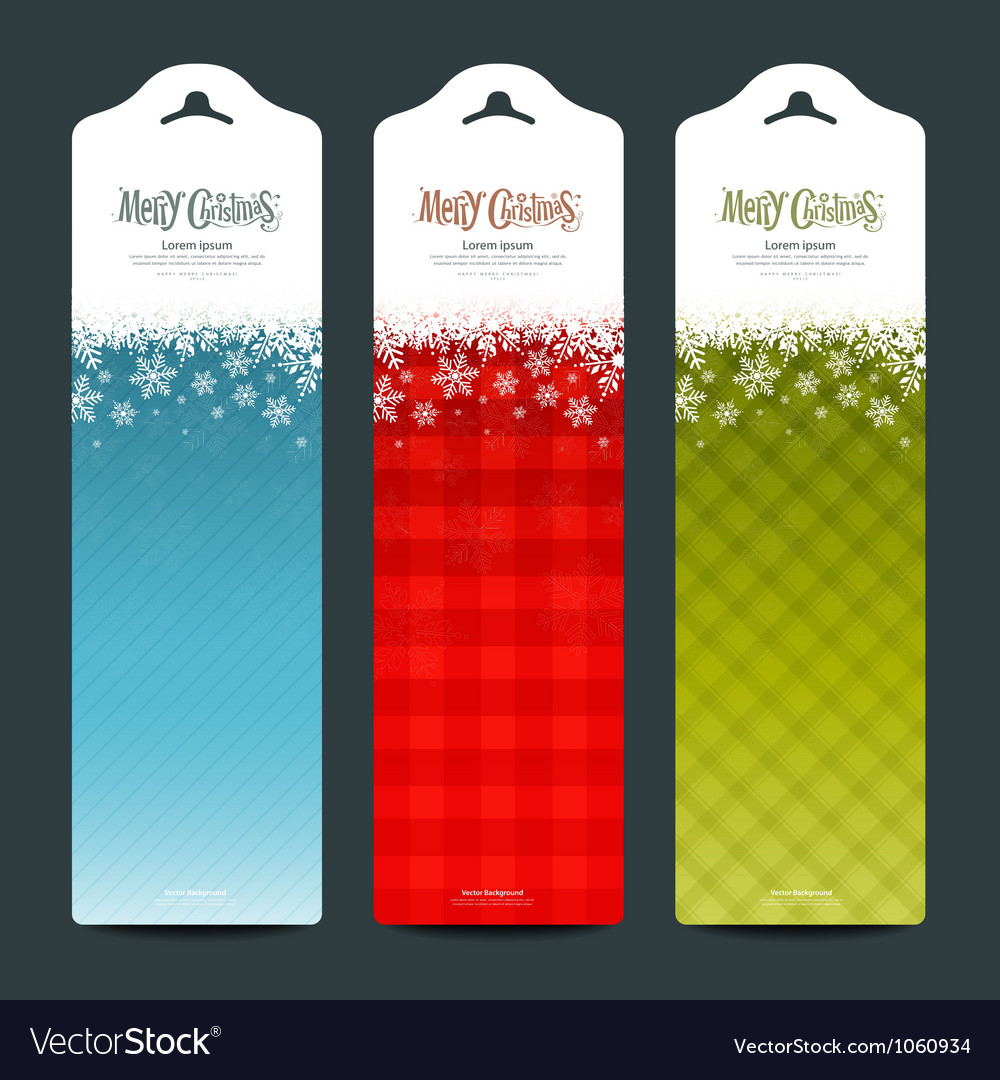 Merry christmas background vertical banner vector