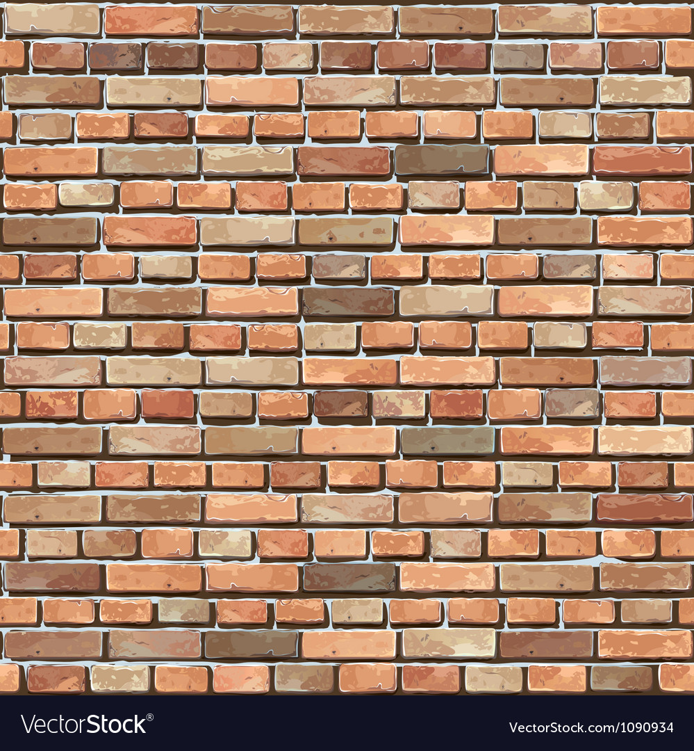 Old brick wall seamless background vector