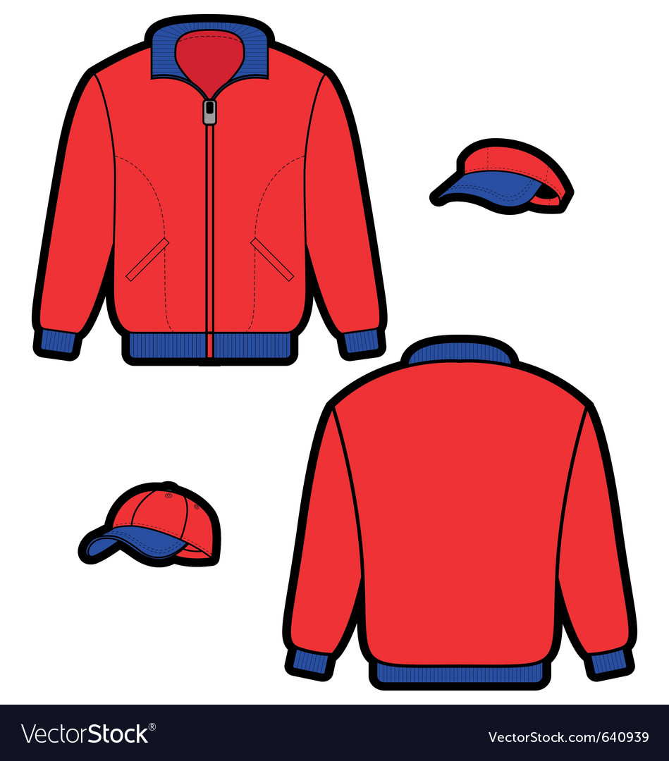 Sports jacket vector