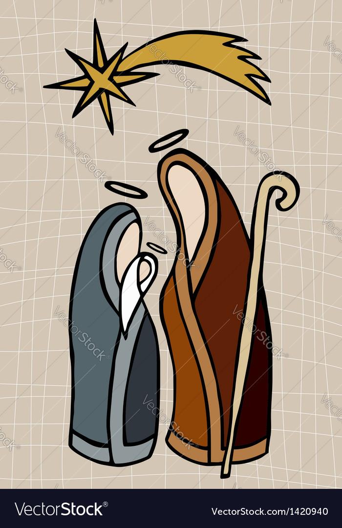 Christian nativity vector