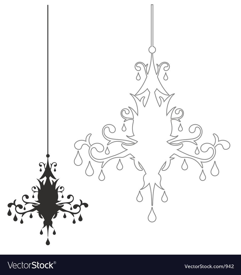 Simple chandelier vector