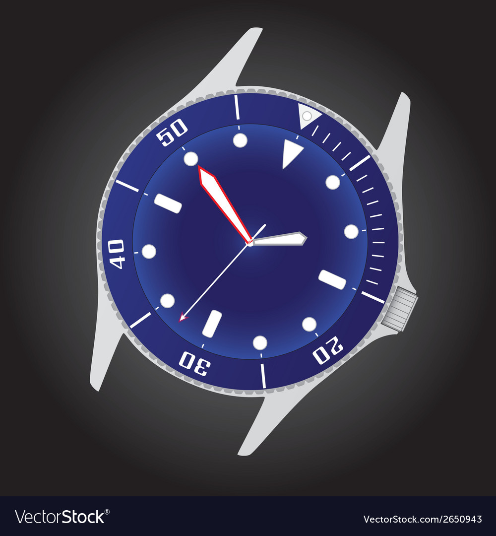 Diver watch case and dial eps10 vector