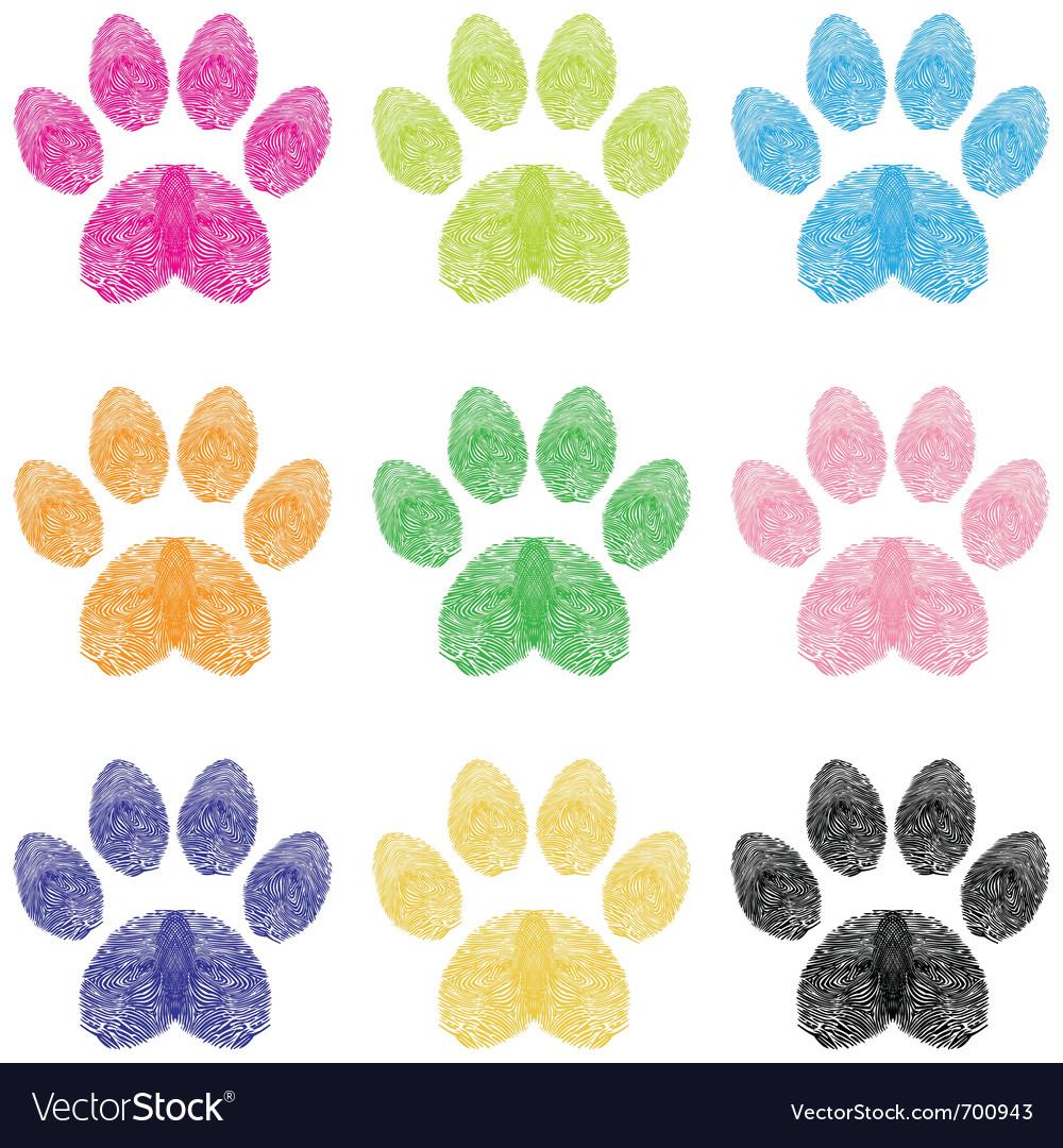 Paw prints vector
