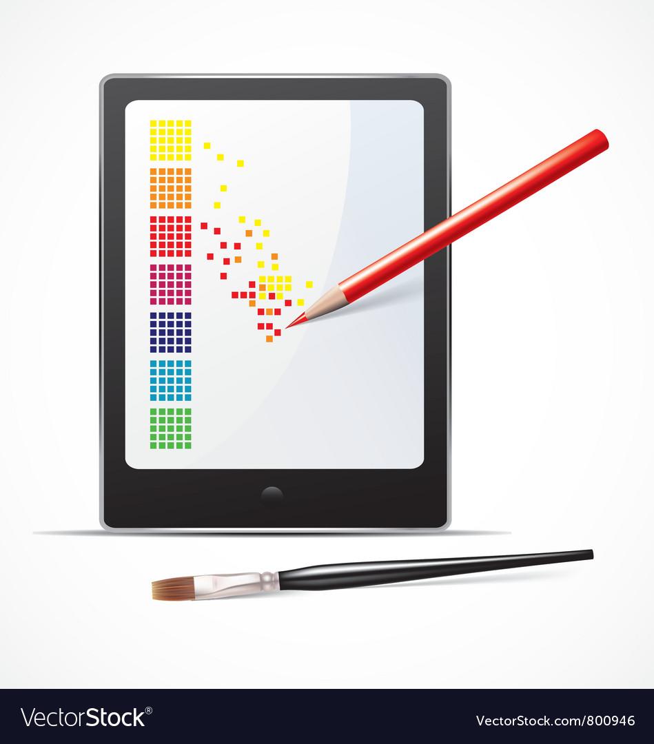 Digital art concept vector