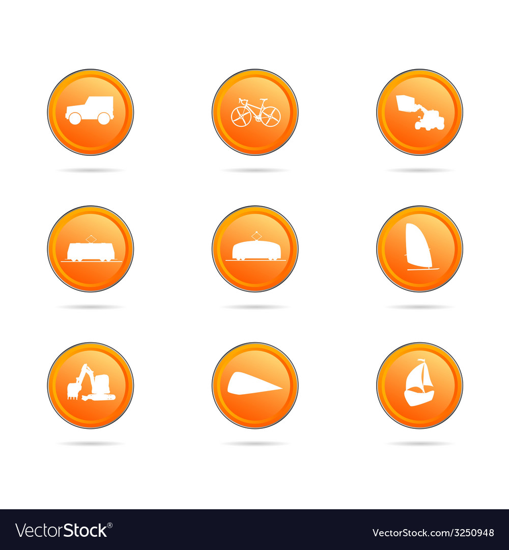 Vehicle button color vector