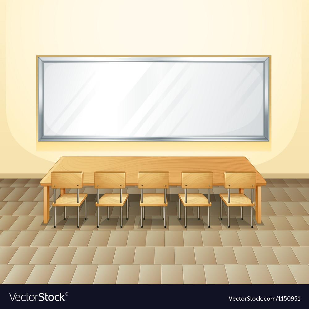 An empty meeting room vector