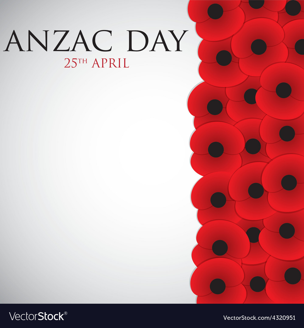 Anzac australia new zealand army corps day card in vector