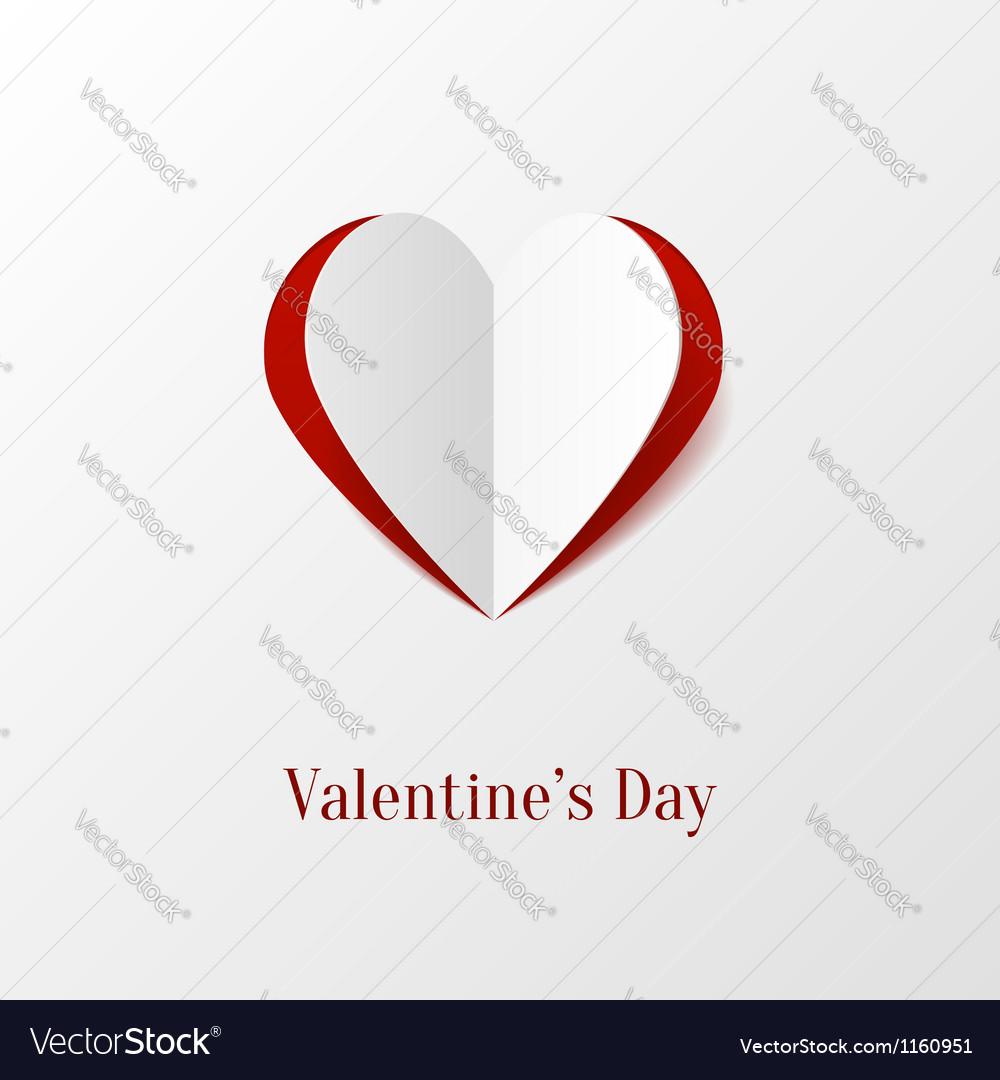 Creative paper heart vector